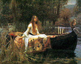 Elaine of Astolat as rendered by John William Waterhouse