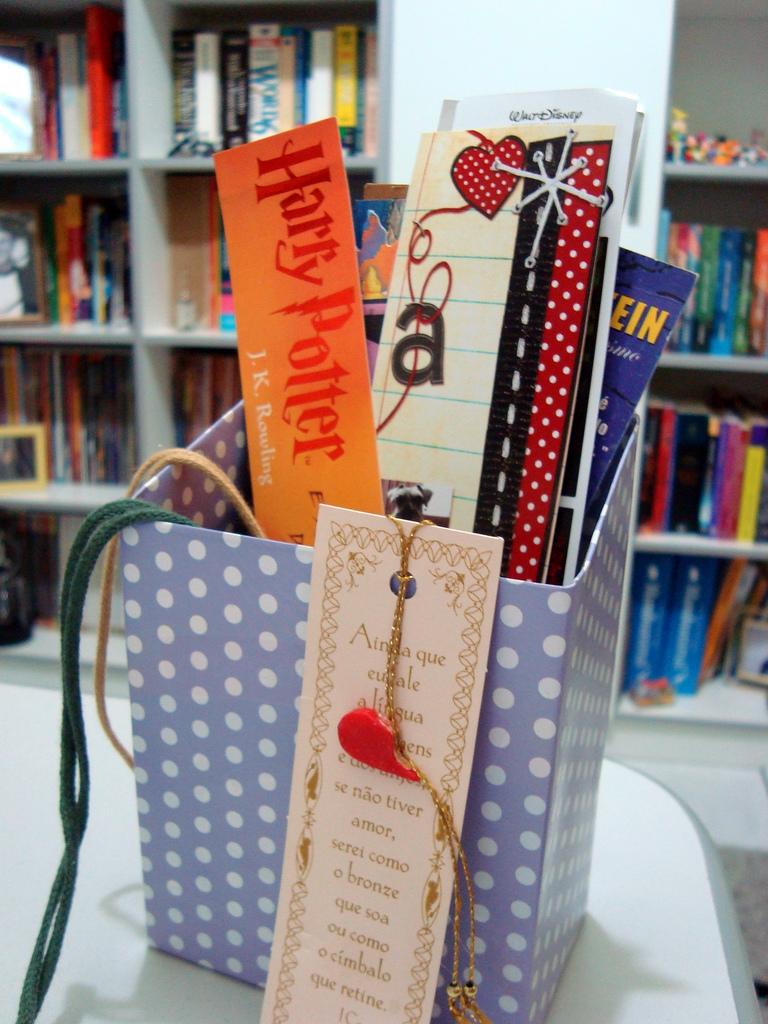 Porta Marcador de Livro