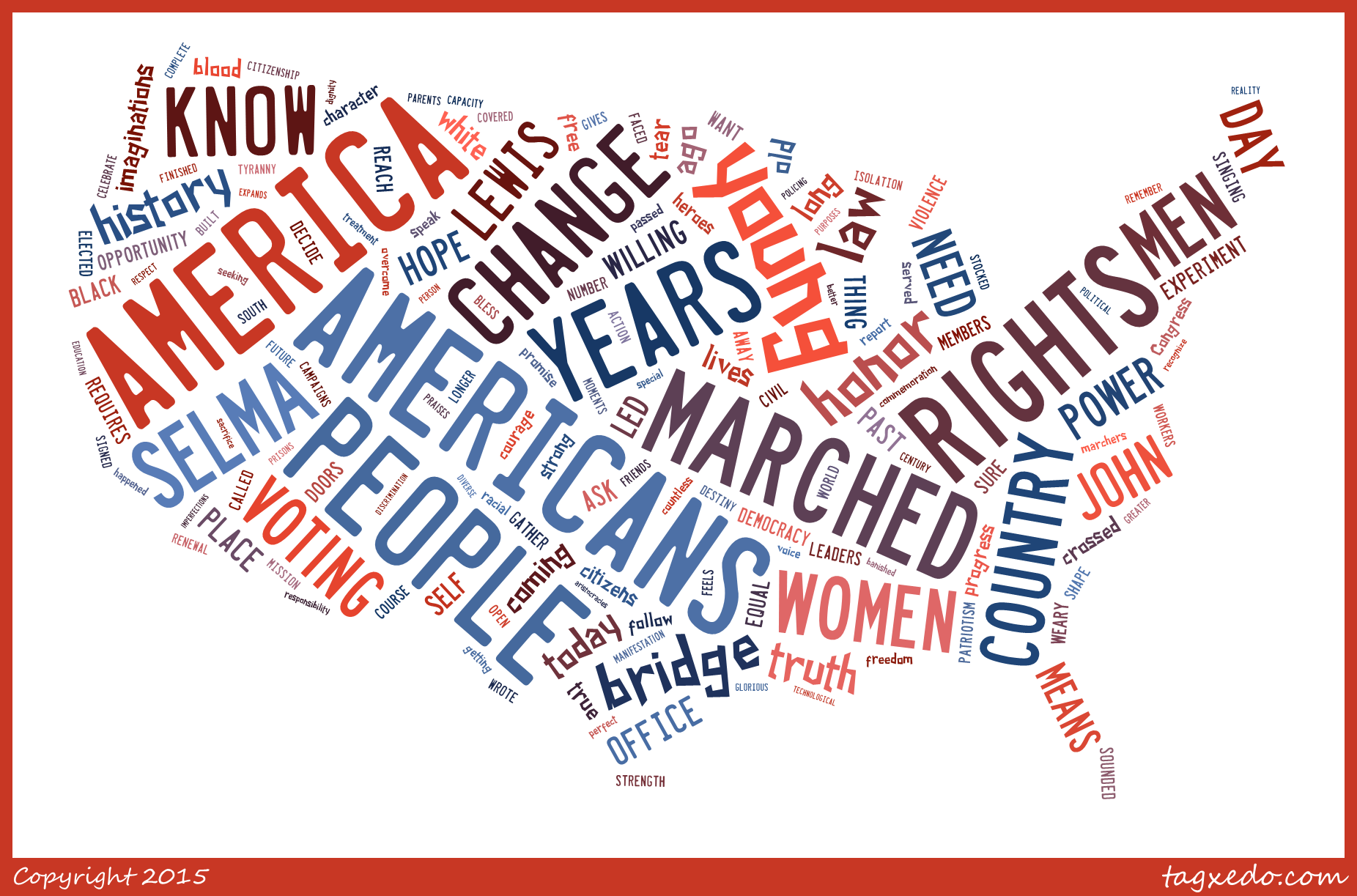 Obama Selma Wordcloud