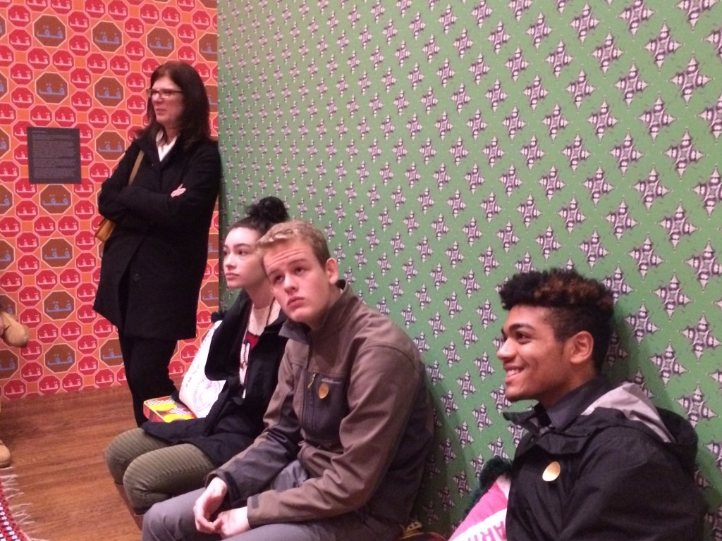 Students Enjoying the Hajjaj Exhibit