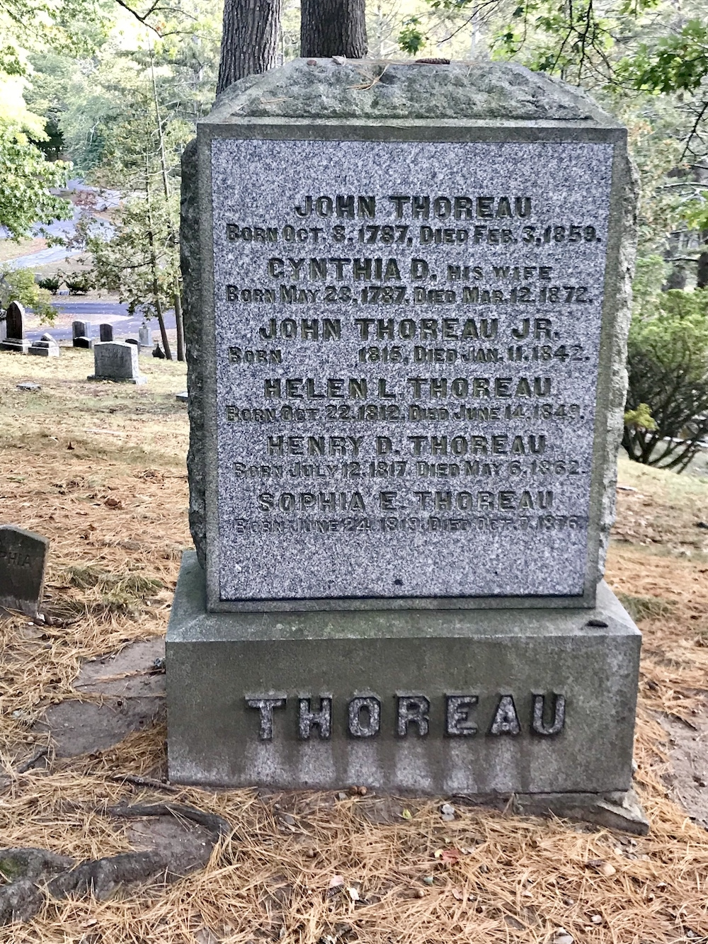 Thoreau Family Marker